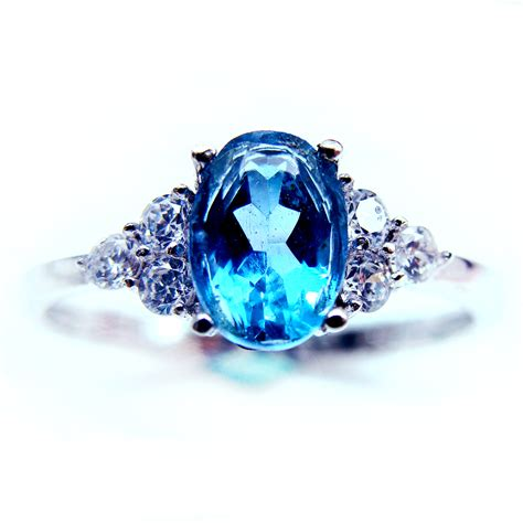 get cheap blue gemstone rings aliexpress