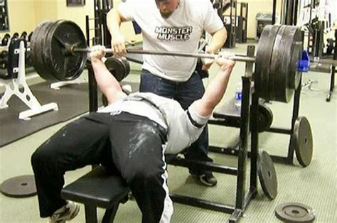 celebrity bench press celebrity bench press 28 images eric spoto bench