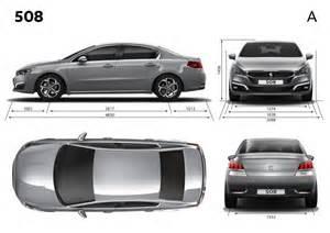 Peugeot 508 Dimensions Dimensions Ext 233 Rieures Peugeot 508 Restyl 233 E 2014