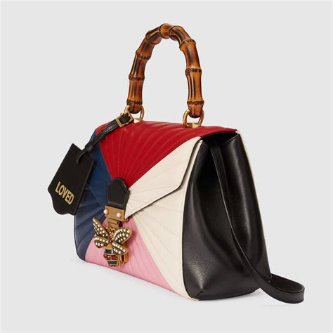 Quilted Bag by Margaret Quilted Leather Top Handle Bag Gucci