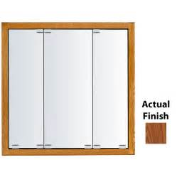 lowes medicine cabinet mirror shop kraftmaid traditional 47 6875 in x 28 75 in autumn