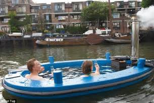 hot tug full steam ahead the hot tub boat which can let you