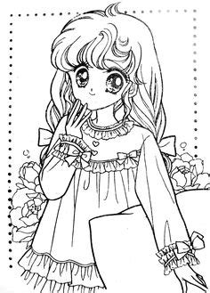 Coloring book yellow (magical girl) - Mama Mia - Picasa