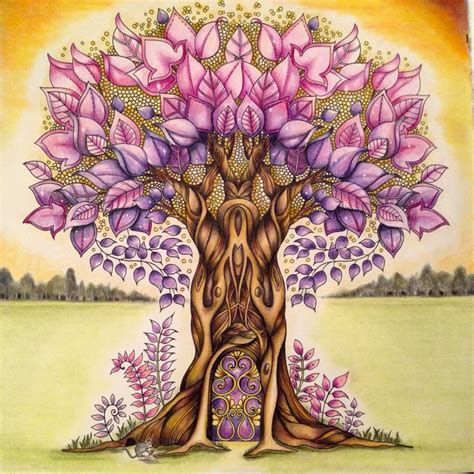 enchanted forest colored 1000 images about my enchanted forest colouring book on