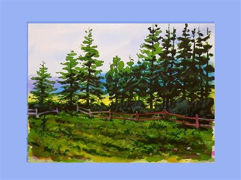 tutorial watercolor trees step by step watercolor painting painting a line of pine