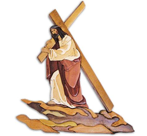 wood pattern gif religious patriotic the cross intarsia pattern