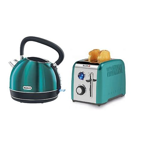 Teal Kettle And Toaster breville kettle toaster range teal kettles toasters george at asda