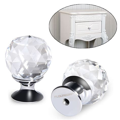 clear kitchen cabinet knobs 8 x 25mm silver clear crystal glass door knob handle
