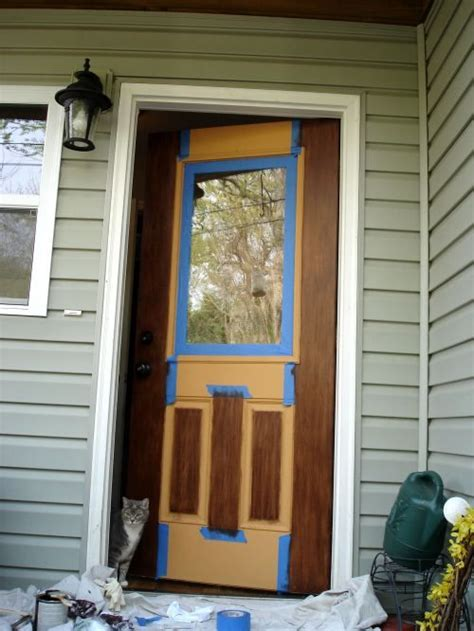 Staining Fiberglass Doors by Gel Stain On Fiberglass Door For The Home