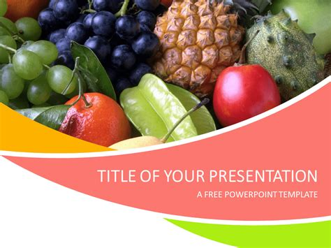 Fruits Powerpoint Template Presentationgo Com Food Powerpoint Templates Free