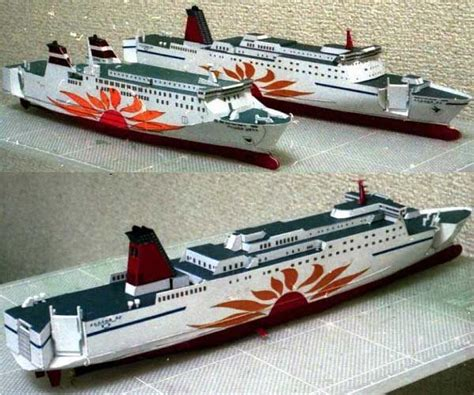 Papercraft Ships - mol sunflower mito cruise free ship paper model