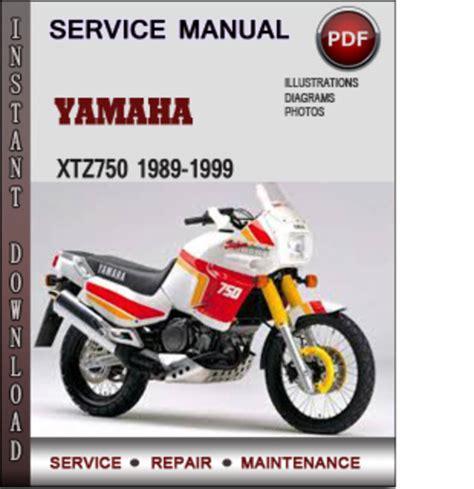 Yamaha Xtz750 1989 1999 Factory Service Repair Manual