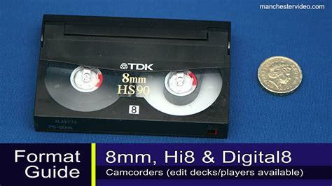 adattatore cassette 8mm how to identify 8mm hi8 digital 8 vhs vhs c minidv