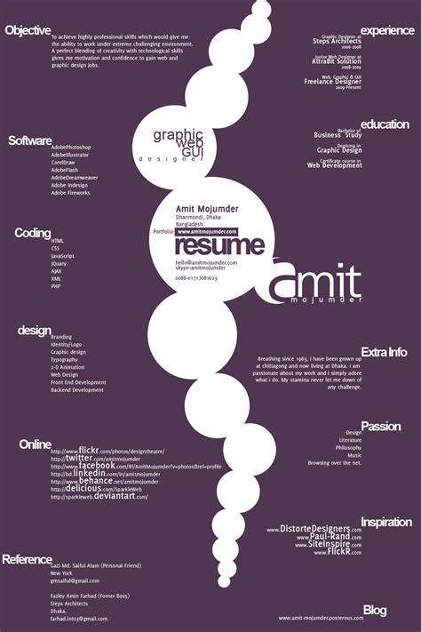 Free Typographic Resume Template Resume Designs Best Creative Resume Design Infographics