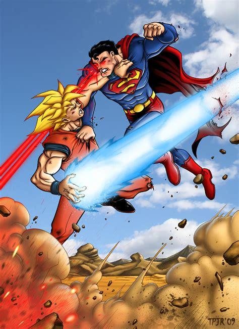 imagenes goku vs superman manga v s comics kakaroto vs kal el