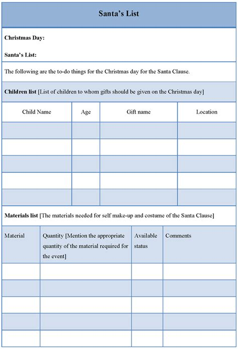 list template for santa s format of santa s list template