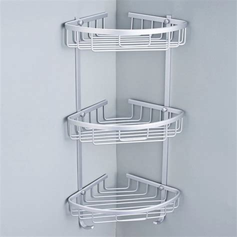 Shower Racks triangular shower shelf bathroom kitchen corner rack shelf storage basket hanger ebay