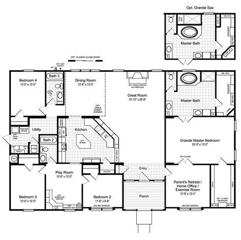 homes floor plans the hacienda ii vr41664a manufactured home floor plan or modular floor plans