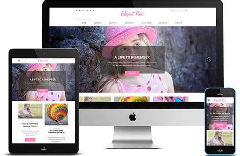 theme blog pink elegant pink feminine and girly wordpress blog theme for