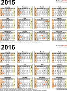 Kalender 2014 Und 2015 2015 2016 Calendar Free Printable Two Year Pdf Calendars
