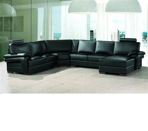 Leather Sectional Sofa Modern by Dreamfurniture 2253 Modern Bonded Leather