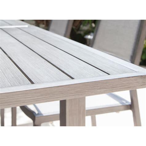 table jardin aluminium extensible 1706 table de jardin trieste extensible en aluminium proloisirs