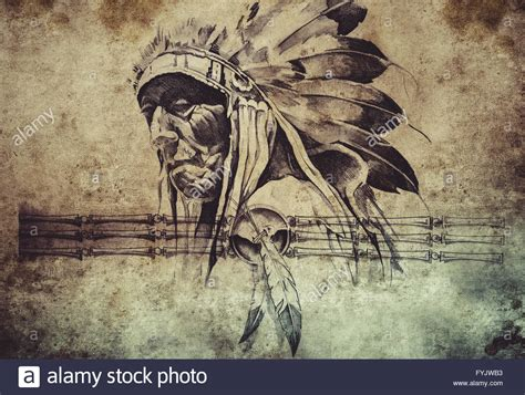 tribal chief tattoo warriors stock photos warriors stock images