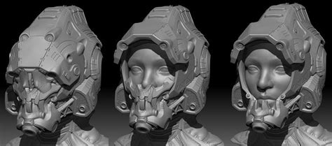zbrush tutorial robot mech helmet 100 zbrush sculpt plus game res real time