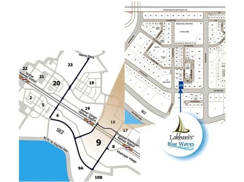 Layout Plan Sector 9 Ulwe | lakhani group blue waves in ulwe new projects by