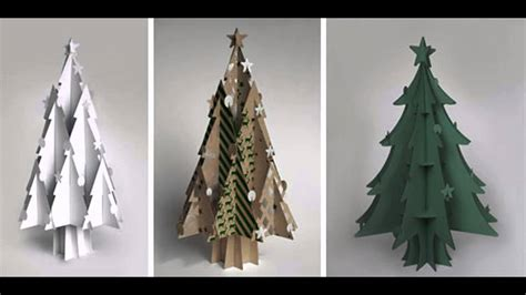 cardboard christmas tree decorations youtube