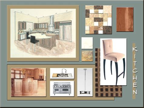design idea board about the work of interior designers colours materials