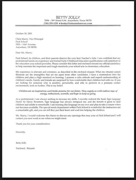 Experienced Kindergarten Cover Letter Best 25 Cover Letter Ideas On Application Letter For Cover