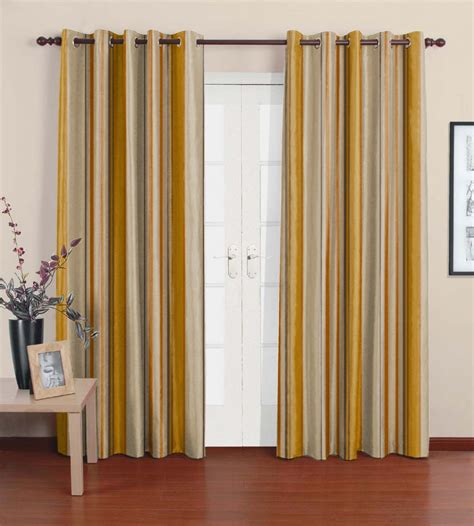 Yellow Brown Curtains Yellow Brown Curtains Yellow N Brown Door Curtains By Fabrics Set Of 2 7 Ft By Fabrics Door