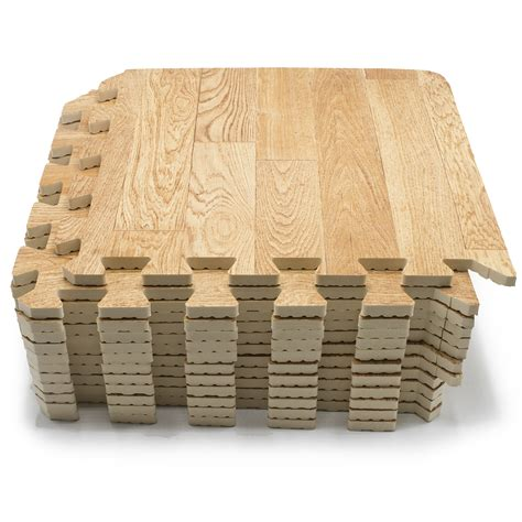 1 Inch Thick Foam Flooring by Sorbus Wood Grain Floor Mats Foam Interlocking Mats Each