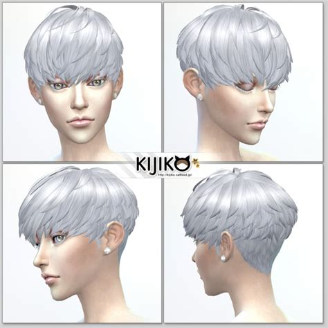 Sims 4 Short Hair | short hair with heavy bangs female at kijiko 187 sims 4