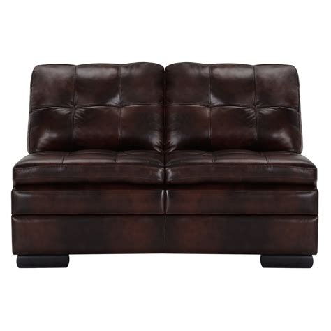 brown leather sectional chaise city furniture trevor dark brown leather large right