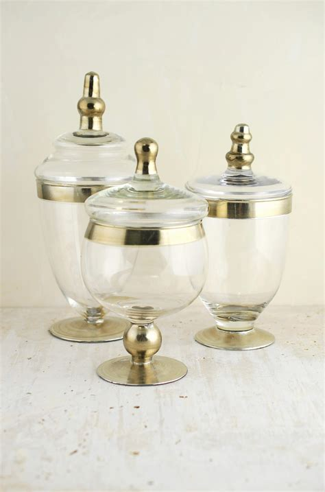 Elegant Vase Set Of 3 Small Apothecary Jars 8 Amp 10 Quot