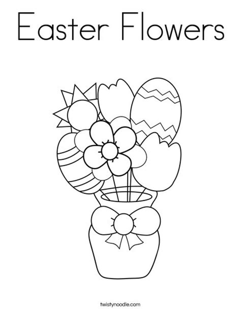 coloring pages of easter flowers easter flowers coloring page twisty noodle