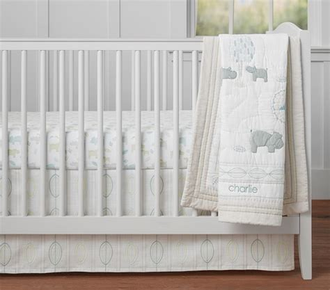 next baby comforter organic charlie hippo baby bedding pottery barn kids