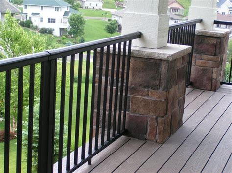 porch banister black white railing