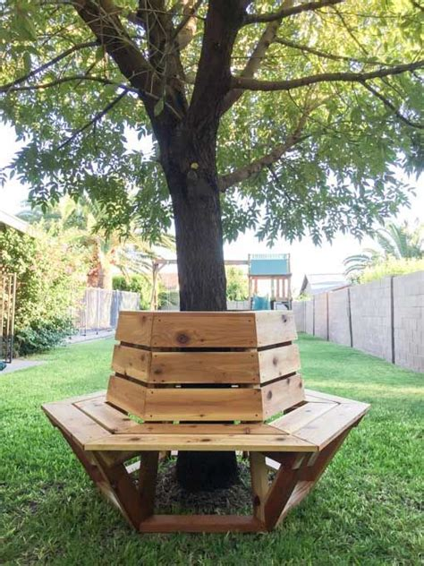hexagonal tree bench hexagons a beautiful and benches on pinterest
