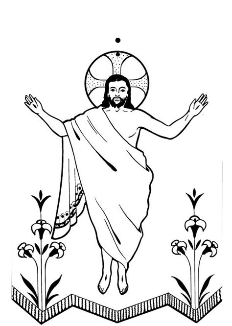coloring pages jesus has risen jesus black and white cliparts co