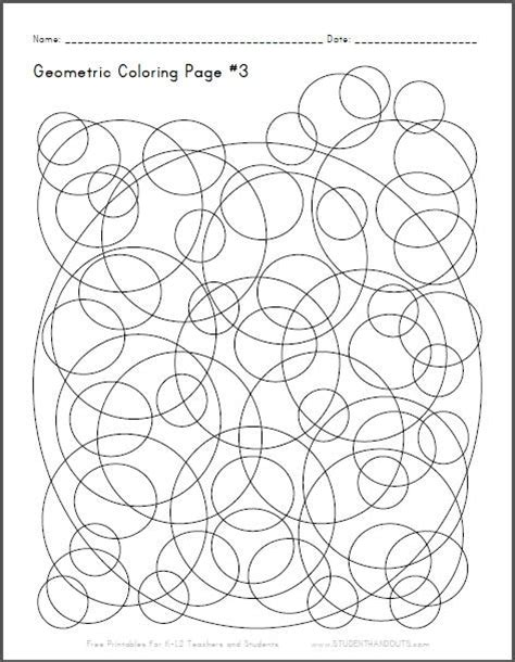 geometric shapes coloring pages pdf geometric coloring page 3 with checkerboard spheres