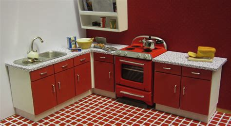 60s kitchen 1 click 1950s 60s kitchen kit miniatures