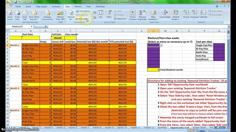 attrition report template attrition tracker add on
