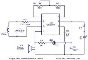 simple metal detector circuit pdf images