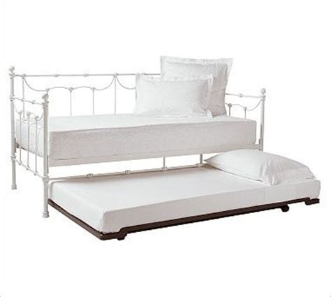 White Metal Daybed With Trundle Metal Daybed With Trundle Distressee Antique White Traditional Daybeds By