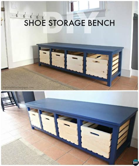 diy storage bench 20 best entryway bench diy ideas projects picture