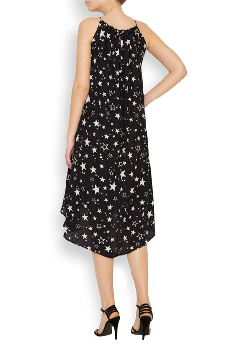asymmetric printed chiffon midi dress midi dresses made