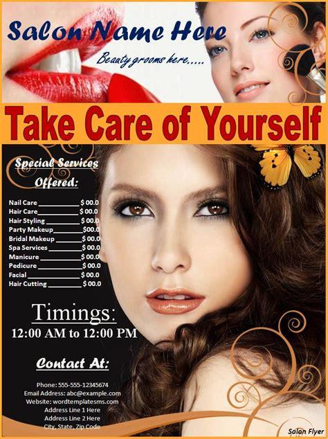 hair salon flyer templates free